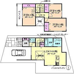 [一戸建] 大阪府豊中市上野西4丁目 の賃貸【/】の間取り