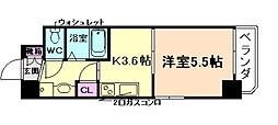 レジュールアッシュ梅田レジデンス[10階]の間取り