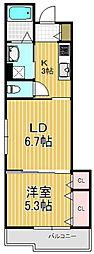 クリエオーレ三ノ瀬[3階]の間取り