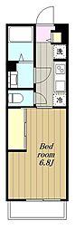 小田急江ノ島線 大和駅 徒歩8分の賃貸アパート 3階1Kの間取り