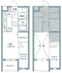 リアンレガーロ井尻ステーション EAST館[104号室]の間取り