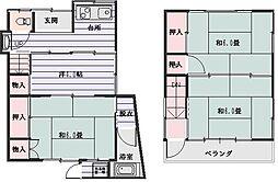 [一戸建] 東京都大田区大森北5丁目 の賃貸【/】の間取り