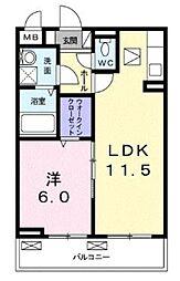 神奈川県綾瀬市吉岡東1丁目の賃貸アパートの間取り
