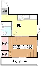 白井ハイツ[3階]の間取り