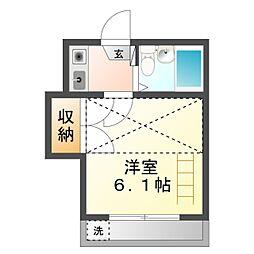 愛知県豊橋市西羽田町の賃貸アパートの間取り
