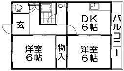 石津東マンション[3階]の間取り