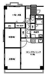 RK38[303号室]の間取り