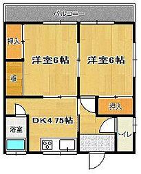 栄香荘(えいこうそう)[7号室]の間取り