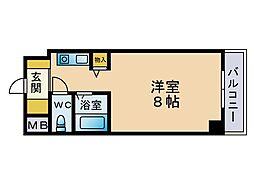 パンルネックス・クリスタル福大東[402号室]の間取り