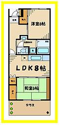 ハイライフTASHIRO[1階]の間取り