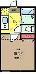 ソリッド中野島[1階]の間取り