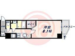 JR大阪環状線 桃谷駅 徒歩9分の賃貸マンション 4階1Kの間取り