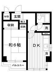 東京都練馬区春日町1丁目の賃貸マンションの間取り