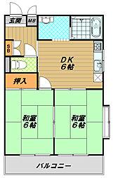 ハイツOGI[2階]の間取り
