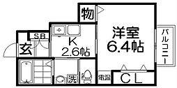 ルシアコート桜園[1階]の間取り