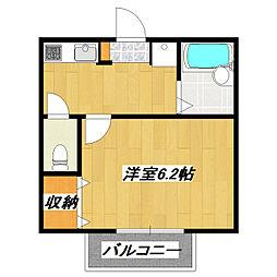 JR総武線 小岩駅 徒歩9分の賃貸アパート 3階1Kの間取り