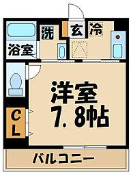 comfort yuuya 1階1Kの間取り