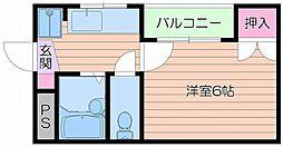 ドミール立命[3階]の間取り
