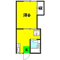 末広荘[2号室]の間取り