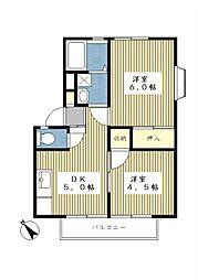 サンライフ鷺沼C棟[1階]の間取り