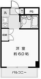リベラルハイツ[4階]の間取り