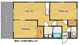 M&S5番館[2階]の間取り