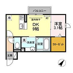 仮)D-room馬場町[2階]の間取り