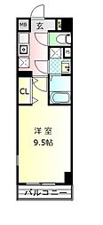 JR御殿場線 御殿場駅 徒歩3分の賃貸マンション 2階1Kの間取り