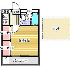リバティパレス[2階]の間取り