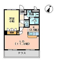 アーバンコートT.B棟[1階]の間取り