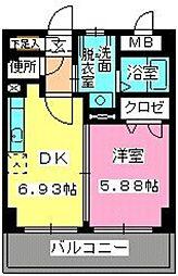 ローヤルマンション博多駅前[605号室]の間取り