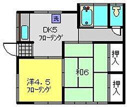 安田アパート[1階]の間取り