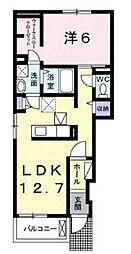 JR横浜線 橋本駅 バス13分 城山総合事務所入口 下車 徒歩6分の賃貸アパート 1階1LDKの間取り
