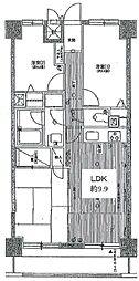 東武東上線 川越駅 徒歩12分の賃貸マンション 4階3LDKの間取り