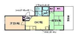 大阪府豊中市本町4丁目の賃貸マンションの間取り