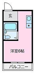 レジデンス北野田[1階]の間取り