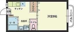 福岡県福岡市西区周船寺1丁目の賃貸マンションの間取り
