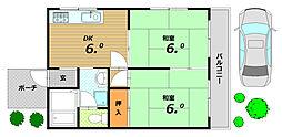 ハイツローレル[1階]の間取り