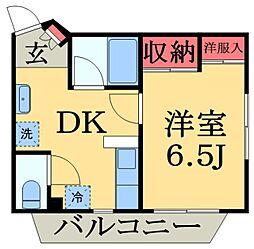 第1小石川ビル[2階]の間取り