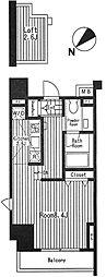 ブランシック白金台 6階1Kの間取り