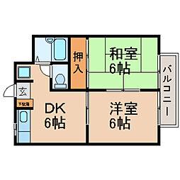 滋賀県高島市新旭町熊野本1丁目の賃貸マンションの間取り