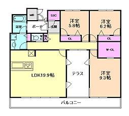 サニープレイス大阪港[14階]の間取り