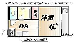 兵庫県神戸市西区大津和1丁目の賃貸マンションの間取り