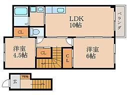 Casa Raffinato A[2階]の間取り