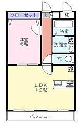 プリムローズ新鎌ヶ谷[4階]の間取り