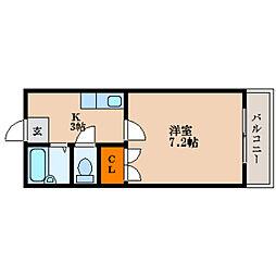 滋賀県長浜市口分田町の賃貸アパートの間取り