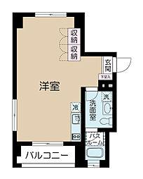 カイザー赤坂[6階]の間取り