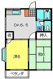 神奈川県横浜市南区永田北2丁目の賃貸アパートの間取り