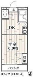 メイプルエイト[2階]の間取り
