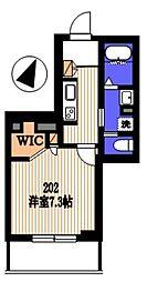 (仮)多摩区堰1丁目シャーメゾン 2階1Kの間取り